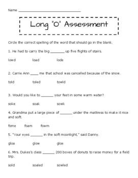 Long /o/ Quiz
