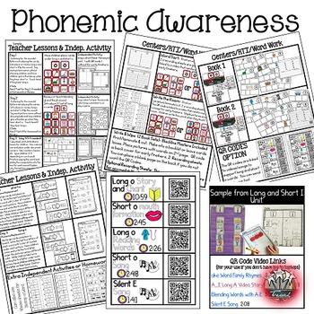 Phonemic Awareness: Word Work Activities