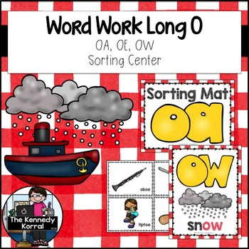 Word Work: Digraphs - Long O - OW, OE, OA
