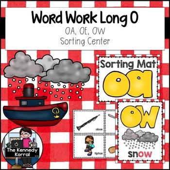 Digraphs: Long O - OW, OE, OA {Center, Cards, Mats & MORE!}