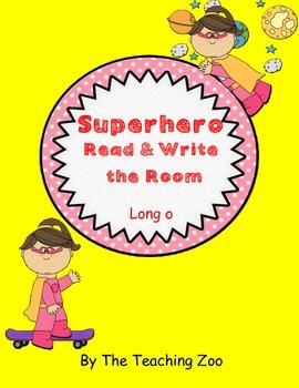 Long o Superhero Read & Write the Room {Real & Nonsense!}