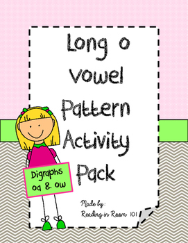 Long o Vowel Patterns Activities