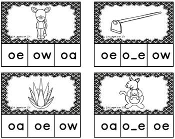 Long o Vowel Sound Clip Cards