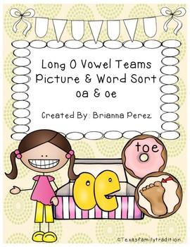 Long o Vowel Teams Picture & Word Sort