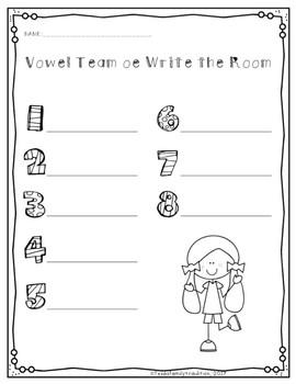 Long o Vowel Teams Write the Room