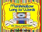 Long /o/ Word Sort Center: oa, ow, o_e