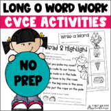 Long o Word Work