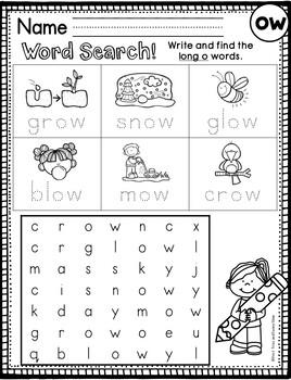 Long o Worksheets