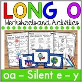 Long O Worksheets - Long O  oa, silent e, ow vowel teams