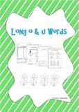 FREEBIE Long o and Long u Worksheets
