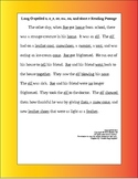 Long o and short e practice and phonics handout sheet
