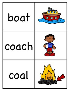 Long o (oa) Picture Word Match