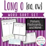 Long o oa, ow Word Sort Set