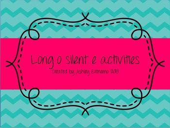Long o silent e activities