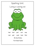 Long o using oa vowel team spelling packet