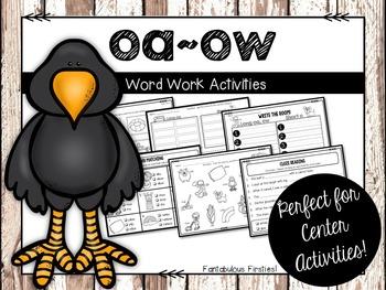 Long oa/ow Word Work Activities
