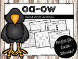 Long oa/ow Word Work Activities