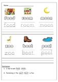 Long 'oo' Literacy activity