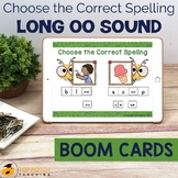 Long oo Sound Boom Cards Choose the Correct Spelling | Dis