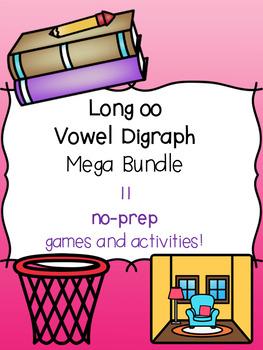 Long oo Vowel Digraph Mega Bundle! [11 no-prep games and activities]