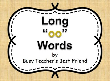 "Words with short and long ""oo"" PowerPoint and Flash Cards Memory Matching Game"