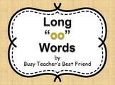 """Words with short and long """"oo"""" PowerPoint and Flash Cards Memory Matching Game"""