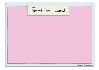 Long /oo/ and Short /oo/ Sort