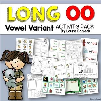 Long oo {oo/ou/ew/ue/ui} ~ Activity Pack
