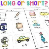 Long and Short Vowels Activity