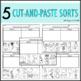 Long Short Vowel Picture Sort | Long Short Vowel Cut and Pastes
