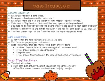 Long or Short Vowel Game {Candy Craze Fill My Candy Bag}