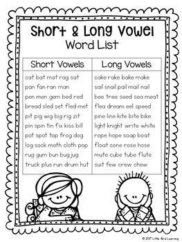Short or Long Vowel Game