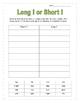 Long or Short Vowel Word Sorts