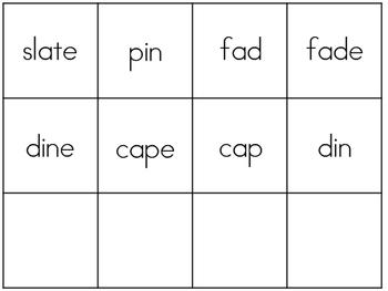 Long/short vowel CVCe Read the Room