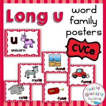 Long u CVCe Word Family Posters