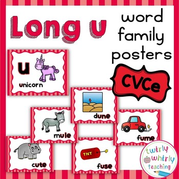 Long u CVCe Word Family Posters