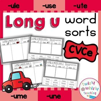 Long u Word Sorts CVCe