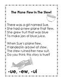 Long u Poem, ue, ew, and ui spellings for reading practice