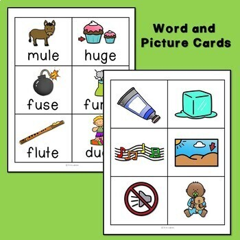 Long u Silent e CVCe and ue Word Work Packet