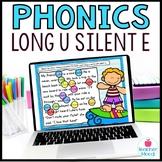 Long u Silent e Digital Phonics Word Work Google Classroom