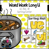 Word Work: Long U Vowel Teams: EW, UE, UI