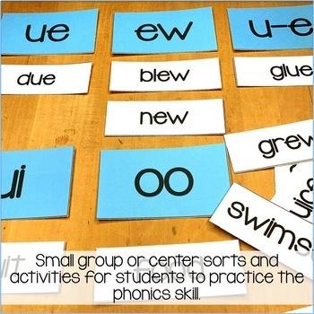 Long u Word Work Activities - Sorts, Worksheets & Poems
