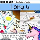 Long u Word Work Activities: Phonics Worksheets, Sorts, & Poems