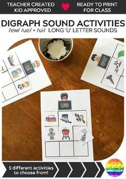 Long 'u' Sound Activities - ew/ue/ui