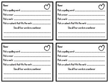 Long u Spelling Practice - ui, ew, oo, ue - 2nd Grade - Valentine's Day