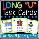 Long u Task Cards (silent e, oo, ew)