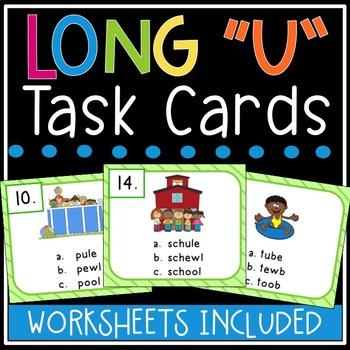 Long u Task Cards