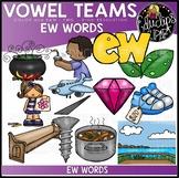 Long u Vowel Team - 'ew' - Clip Art Bundle {Educlips Clipart}