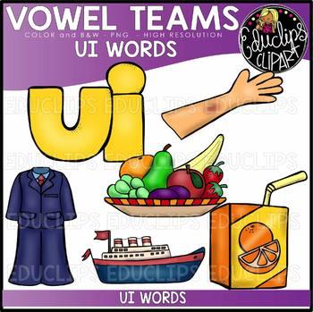 Long u Vowel Team 'ui' - Clip Art Bundle {Educlips Clipart}