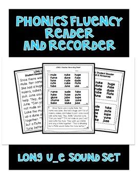 Long u (u_e) - Phonics Fluency Assessment